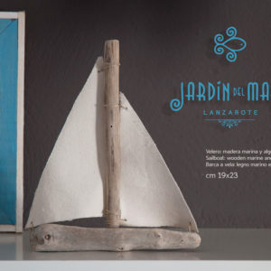 Driftwood small sailboat