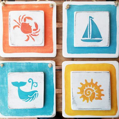 Nautical handmade signs