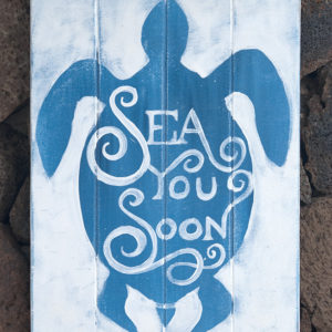 Sea you soon - handmade painting on wood
