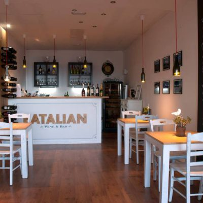 "The bar ""Eatalian"" in Costa Teguise - Lanzarote; summer 2014 - Jardin del Mar"