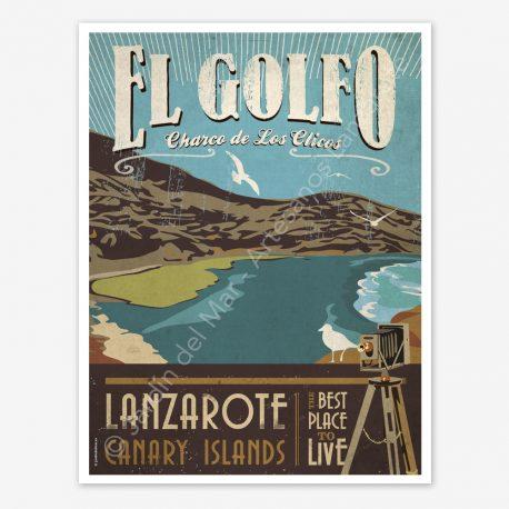 El Golfo, Lanzarote, vintage travel poster